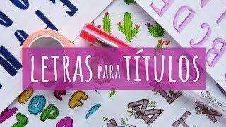 Download 6 TIPOS DE LETRAS PARA DECORAR APUNTES, CUADERNOS O CARTELES 😍 CÓMO HACER LETRAS BONITAS Y FÁCILES Video
