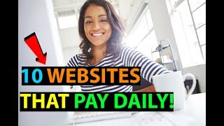 Download 10 Websites That Will Pay You DAILY Within 24 hours! (Easy Work At Home Jobs) Video