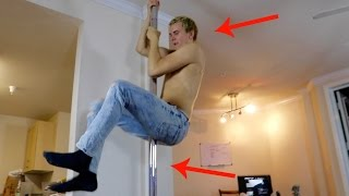 Download HE PUT A STRIPPER POLE IN OUR APARTMENT!! Video