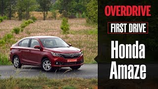 Download 2018 Honda Amaze | First Drive Review | OVERDRIVE Video