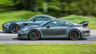 Download Mercedes-AMG GT S vs Porsche 911 GT3 PDK (991) GTBOARD Event May 2015 Video