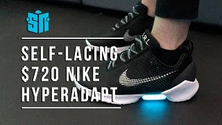 Download We try on $720 self-lacing Nike HyperAdapt Video
