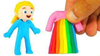 Download LITTLE PRINCESS NEW RAINBOW COLOR DRESS ❤ SUPERHERO BABIES PLAY DOH CARTOONS FOR KIDS Video