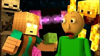 Download MONSTER SCHOOL VS BALDI'S BASICS CHALLENGE! Minecraft Horror Game Animation Video Video