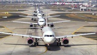 Download Morning traffic at Mumbai Airport - India Flights Video