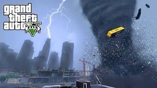 Download INSANE TORNADO DESTROYS LOS SANTOS - GTA 5 END OF LOS SANTOS MOD Video