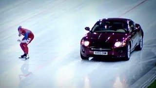 Download Speed Skater Vs Jaguar XK on Ice! - Top Gear Winter Olympics - BBC Video