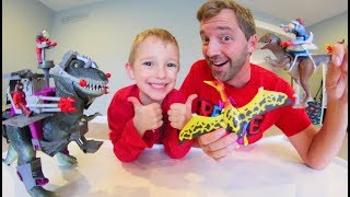 Download Father & Son GET MOST EPIC TOYS EVER! / Dino Riders Video