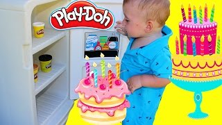 Download DIY Play Doh Cake Tutorial with Vintage Little Tikes Fridge Video