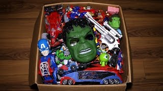 Download Box of Toys: Action Figures, Cars, Minecraft, Marvel's Spiderman and More Video