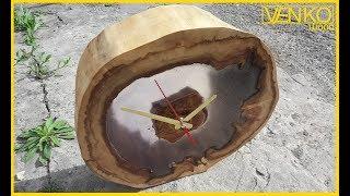 Download Wood clock in LOFT style | Деревянные часы в стиле LOFT Video