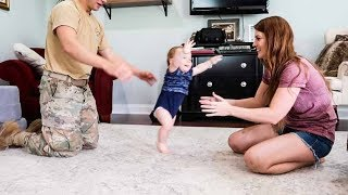 Download Baby Leo IS WALKING! His First Steps! Video