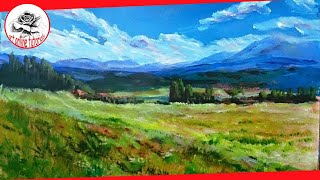 Download Acrylics: How to Paint a complete Landscape with acrylics: Painting Techniques Video