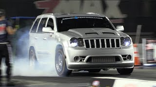 Download Twin Turbo SRT8 Jeep Runs Over Every Truck on the Premises! 🐌 🐌 Video