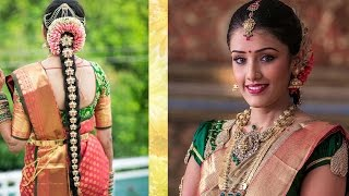 Download South Indian Bridal Makeup & Hairstyle Tutorial Step By Step | Traditional Bridal Makeup For Wedding Video