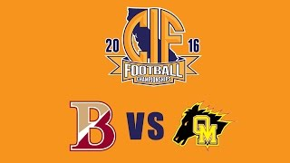 Download 2016 CIF Division 3-A State Football Championship, Bishop's ″Knights″ vs Oakdale ″Mustangs″ Video