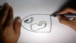 Como Dibujar Boo Mario Bros Kawaii Paso A Paso Dibujos Kawaii