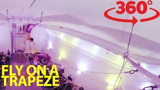 Download Take a swing on the flying trapeze in 360 Video