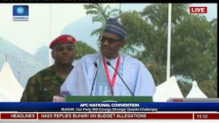 Download APC Nat'l Convention: Our Party Will Emerge Stronger Despite Challenges- Buhari Video