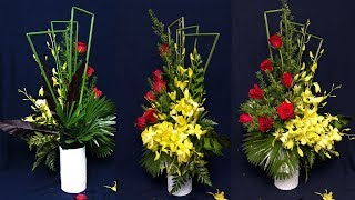 Download HOW TO Arrange Flowers DIY RED Rose flower,Orchid ? Home Decoration 58 Video