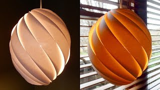 Download Swirl pendant lamp - how to make a spiral paper lampshade/lantern - EzyCraft Video