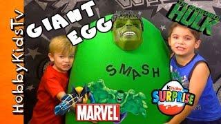 Download Giant HULK Surprise Egg by HobbyKidsTV Video