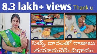 Download HOW TO MAKE SILK THREAD BANGLES Video