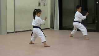 Download JKA/ Mahiro & Masaki practice Heian shodan-godan and Tekki shodan part 2 Video
