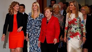 Download Ivanka booed in Berlin as she defends Donald Video