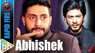 Download Abhishek Bachchan's SUPER-HIT Rapid Fire On Shah Rukh | Aamir | Hrithik | Akshay Video