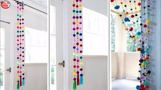 Download Pom Pom!!! Wall Hanging | How to make Door Hanging at Home | Woolen Craft Idea Video
