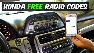 Download HONDA RADIO CODE FOR FREE Video