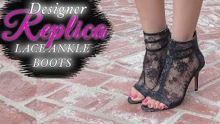 Download ANKLE BOOTS - EASY DIY LACE BOOTS Video