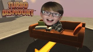 Download FALLING OFF A CLIFF ON A SOFA! Turbo Dismount | Steam Game Video