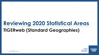 Download PSAPV 3: Reviewing Standard Statistical Geographies Using TIGERweb Video