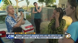 Download Woman confronts neighbor who has her service dog Video