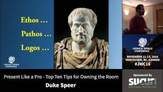 Download JWC 2016 - Present Like a Pro - Top Ten Tips for Owning The Room - Duke Speer Video