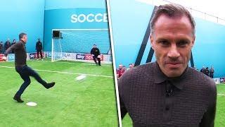 Download Carragher vs Graham   Penalties, volleys, freekicks & crossbar challenge   Soccer AM Pro Am Video