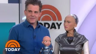 Download Lifelike Robot Sophia Chats With The TODAY Anchors   TODAY Video