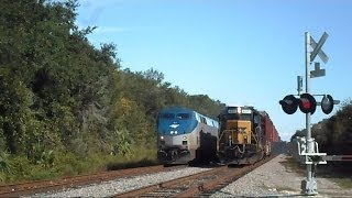Download Amtrak Train Silver Star Passes CSX Train Making Pick Ups Video