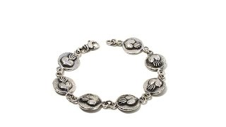Download King Baby Jewelry Sterling Silver Heart Coin Bracelet Video