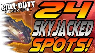 Download ALL 24 SKYJACKED Spots & Glitches! - Ledges, Lines of Sight, Hiding Spots, (New Black Ops 3/BO3) Video