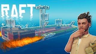 Download ROCKET PIRATE SHIP?! - Raft Multiplayer Gameplay - Survival Raft Building Game Video