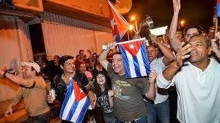 Download Celebrations in Miami's Little Havana in the wake of Fidel Castro's death Video