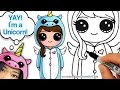 Download How to Draw Cute Girl in Unicorn Onesie step by step Easy Video