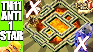 Download NEVER LOSS | TH11 WAR BASE ANTI 1 STAR | ANTI BOWLER AND LAVALOON + REPLAY'S Video