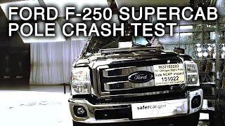 Download 2016 Ford F-250 Super Duty SuperCab Crash Test (Side Pole Crash) Video