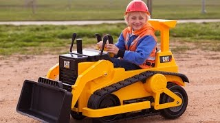 Download Kid Trax CAT Bulldozer - Kids Tractor (Unboxing and Riding)! Video