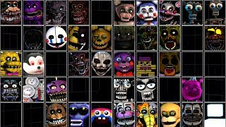 Ultimate Custom Night FNAF 1 2 3 4 5 6 7 All Jumpscares *FNAF 2018