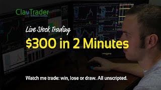 Download Live Day Trading - $300 in 2 Minutes‏ Video